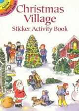 MERRY CHRISTMAS STICKER ACTIVITY BOOK, living room scene with tree + 36 stickers