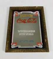 old Sign Mirror Delicious Coca Cola The Most Refreshing Drink in the World vtg
