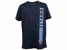 Tennessee Titans new Youth Shatter Text Dri Tek TShirt KB18TFYN Large L $22