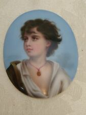 ANTIQUE KPM PORCELAIN PLAQUE PAINTING OF A NEAPOLITAN BOY MASTERS HAND STUNNING