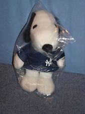 New York Yankees Snoopy Plush Doll SGA 2011 in Blue Metlife Peanuts Jersey BNIB