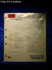 Sony Service Manual CDP 270 / 470 CD Player (#0465)