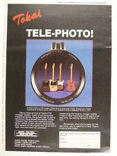 retro magazine advert 1987 TOKAI tte / tele-photo !