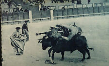 ANTIGUA POSTAL TAUROMAQUIA UN TORO DE PODER BULLFIGHING BULLS REJONEADOR  CC3822