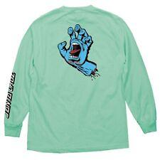 Santa Cruz Screaming Hand Long Sleeve Skateboard Shirt Celedon Large  00004000