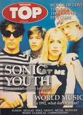 top magazine from tower records uk 7/8 1992 sonic youth house of love the cranes