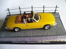 "TRIUMPH STAG from Movie ""DIAMONDS ARE FOREVER"" JAMES BOND 007 1/43 DIORAMA NEW"