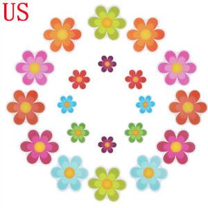 20Pcs Floral Non Slip Bathtub Stickers Safety Adhesive Floor Applique Tub Decals