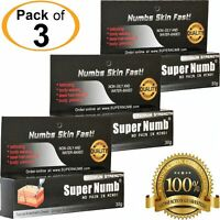 3 Tubes x 30g SUPER NUMB Numbing Cream Tattoo Piercing Waxing Laser Microblading