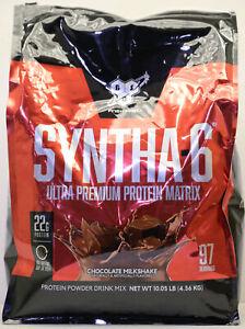BSN SYNTHA-6 Whey Protein Powder, Chocolate Milkshake, 10LB, 97 Servings