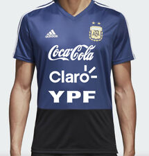 Adidas AFA 2018 Argentina MEDIUM Training Shirt Blue with YPF Sponsors