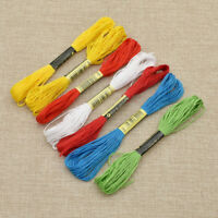 12pcs Cross Stitch Cotton Embroidery Thread Floss Sewing Skeins Craft Red White