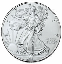 2021 1 oz American Silver Eagle T-1 Gem Bu Brilliant Uncirculated