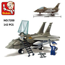 Sluban B7200 F15 Fighter Jet Airplane Figure Building Block Toys Compatible