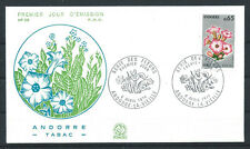"""Andorre - FDC  Enveloppe 6/4/1974 - N°235 Flore """"Tabac"""""""