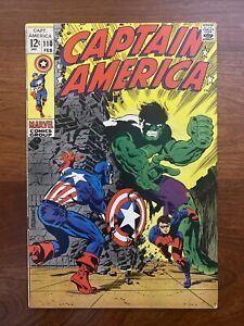 Captain America #110 (1969) VF 8.0 1st Madame Viper, Steranko art 🔥HIGH GRADE🔥
