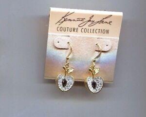 KENNETH LANE CRYSTAL APPLE earrings