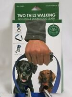 FurHaven Two Tails Walking No Tangle Double Dog Pet Leash Blue