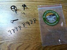 Black River Fly Shop 11 piece Black single foot fly rod guide set