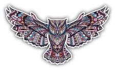 "Owl Totem African Indian Pattern Car Bumper Sticker Decal 6"" x 3"""