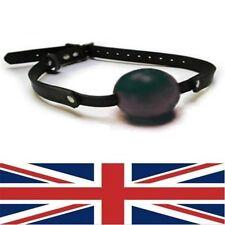 Cuero Negro Ball Gag, Sissy Maid, del Reino Unido con envío rápido, Decreet embalaje