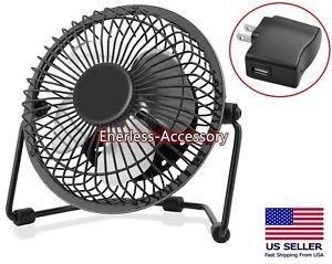 """USB Mini Fan  5 V 2.5 W Personal  Desk 4"""" Fan Laptop Notebook & PC"""
