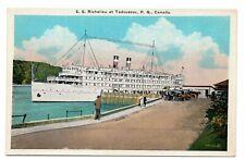 Canada Steamship Lines SS RICHELIEU at Tadoussac Quebec 1915-30 Valentine-Black