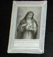 Image pieuse canivet dentelle saint coeur marie corazon de maria Turgis 527