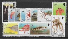 FALKLAND ISLANDS SG701/12 1994 INSHORE MARINE LIFE DEFINS MNH