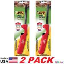 NEW 2 BiC Multi-Purpose Lighter Value Pack BBQ, Candles,Fireplaces (RED or BLUE)