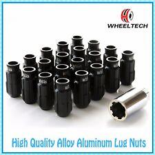 20 X Black tuner M12x1.25 50mm for NISSAN INFINITI SUBARU SUZUKI Wheel Lug Nuts
