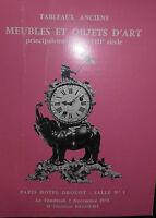 1975 Catálogo De Venta Demuestra Drouot Muebles Y Artículo D Art Tabla Antiguos