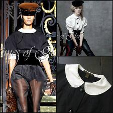 RARE Louis Vuitton Black White Peter Pan Collar Blouse Shirt Size FR34 XS US2 4