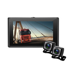 3'' 24V Inline Control Car Truck DVR Rearview Mirror Dash-Cam Driving Recorder