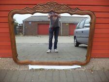 XXL 51 x 39 inch Vintage Carolina Mirror Corp. USA - Carved Wooden Frame