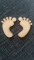Wooden Baby Feet Laser Cut MDF Embellishments scrapmaking Craft 30mm-150mm