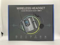Wireless Sound System Dual Headset Mic/Lavalier Mic Receiver Voice Transmitters