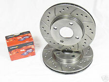 Corsa D 1.6 VXR 11-15 Drilled Grooved Front Brake Discs + Pads