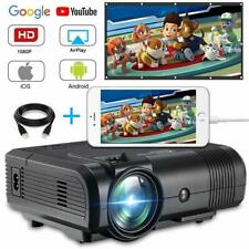 Upgraded 7200 Lumens HD Video Projector Mini Portable Projector HDMI Home Movie