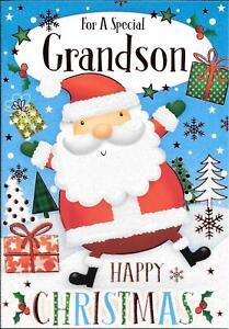 CHRISTMAS CARD FOR A SPECIAL GRANDSON - FATHER CHRISTMAS