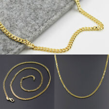 Unisex Gold Color Alloy Chain Curb Link Necklace Jewelry 45cm New