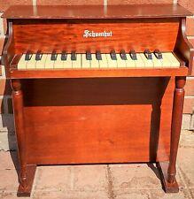 Vintage Schoenhut Upright Childs Wood Toy 20x10x20 Piano w/30 Keys - USA Made
