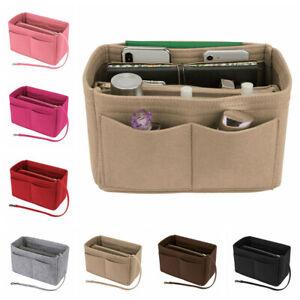 Insert Bag Zipper Multi Pocket Handbag Purse Organizer Holder Makeup Travel
