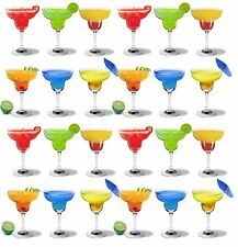 Margarita Cocktail Drinking Glasses In Gift Box, Party Pack - 270ml - x24