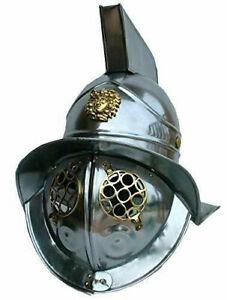SCA LARP Medieval Gladiator Helmet III Brass Reenactment Armor Helmet