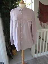Men's Red Herring Red Stripped Shirt Long Sleeved Size L New