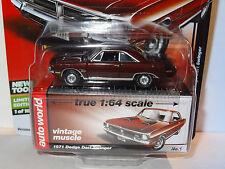 AUTO WORLD BURGUNDY 1971 DODGE DART SWINGER REL 5C PREMIUM VINTAGE MUSCLE LTD