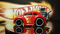 Hot Wheels RED AND FLAMES  Volkswagen Beetle Red WHITEWALL
