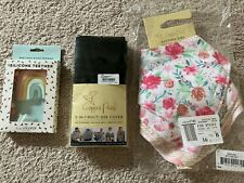 Teether, Nursing Cover and Bibs - Baby Newborn Accessory Bundle