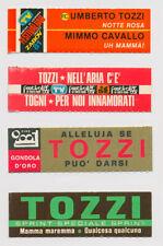 UMBERTO TOZZI - 4 rare targhette originali juke box flip Notte Aria All.Se Mamma